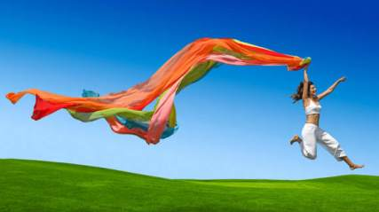 woman-jumping-with-ribbons