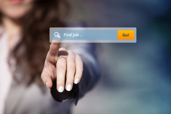 Job search on the internet.